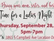 Ladies Night Out Is Thursday September 28th from 5pm to 7pm